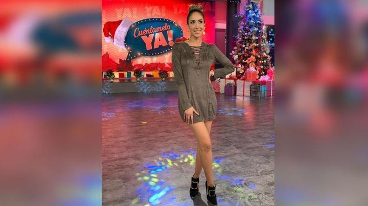 Cynthia Urías derrite los foros de Televisa con sus exquisitos jeans de piel