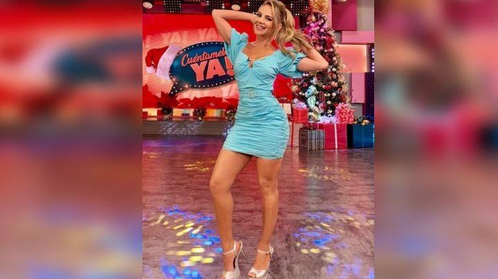Ximena Córdoba provoca el delirio al lucir ajustado atuendo blanco en Televisa