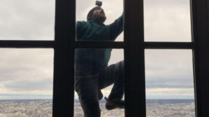 Deportista extremo hace tremenda hazaña al escalar edificio de 58 pisos sin protección
