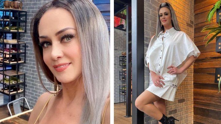 Anette Michel enamora a todo TV Azteca con irresistible 'outfit' blanco desde 'MasterChef'