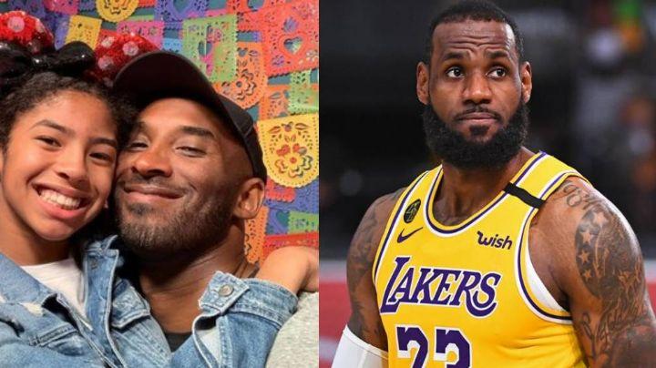 LeBron James rinde conmovedor homenaje a su amigo Kobe Bryant y a su hija Gianna