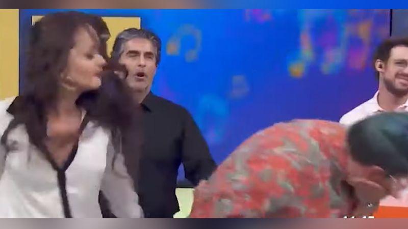 Gaby Spanic 'explota' en vivo en 'Hoy' y le da dos cachetadas a comediante