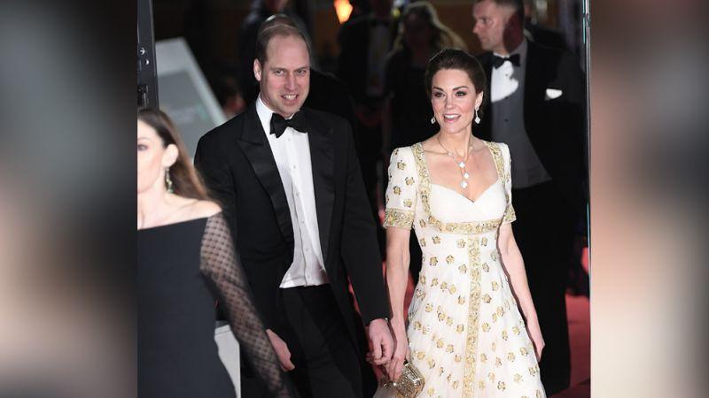 Como toda una estrella de cine, Kate Middleton roba miradas en los BAFTA