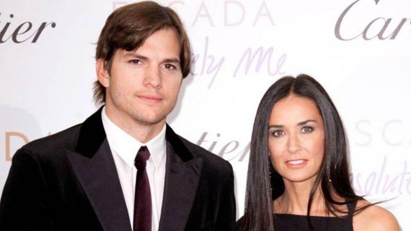 Ashton Kutcher habla de su relación actual con Demi Moore y sus hijas
