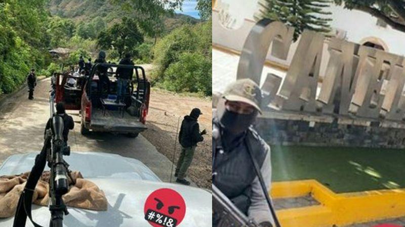 VIDEOS: Sicarios del Cártel de Sinaloa patrullan y afinan puntería en Canelas