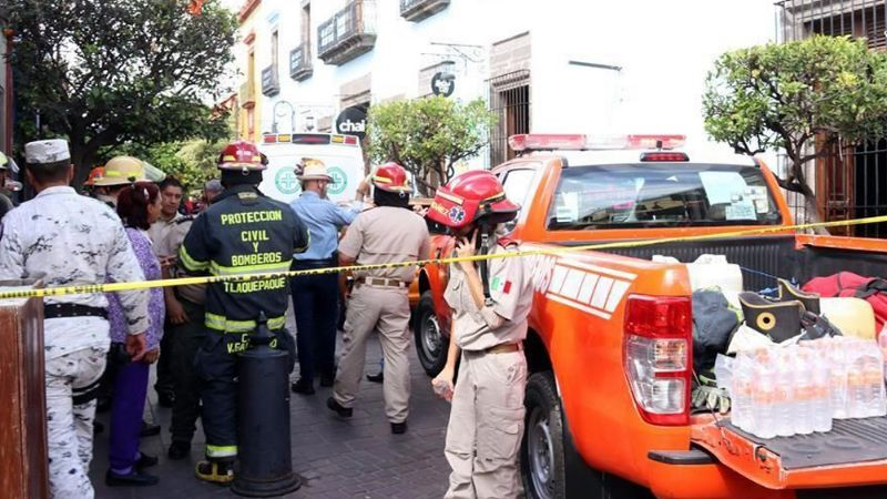 Restaurante colapsa en Tlaquepaque y deja a dos personas lesionadas