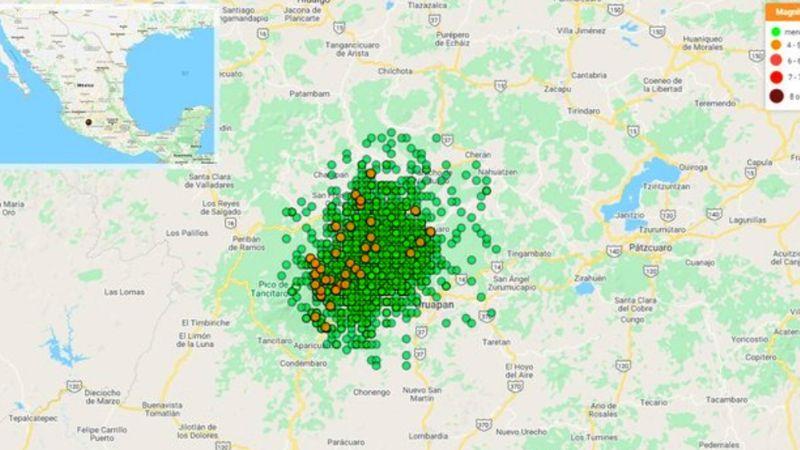 El enjambre sísmico en Michoacán no representaría una erupción volcánica