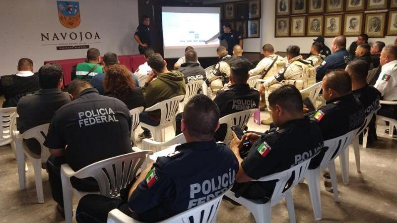 Bomberos de Navojoa capacitan a policías en materiales peligrosos