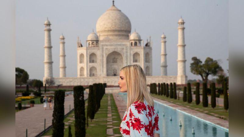 Ivanka Trump viaja a la India y locales aprovechan para hacer fotomontajes