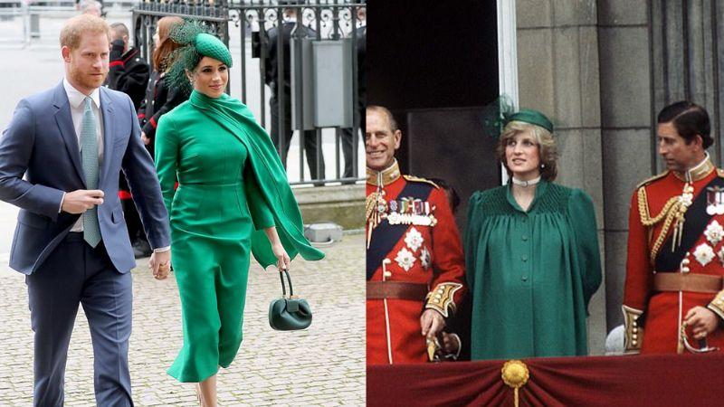 Meghan sigue los pasos de Kate y rinde homenaje a Lady Di con su 'outfit'