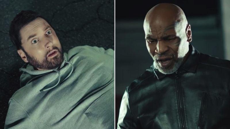 VIDEO: Mike Tyson 'noquea' a Eminem de un contundente puñetazo