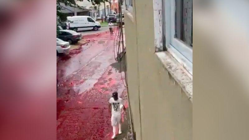 Vecindario argentino se cubre de sangre animal por explosión de tanque