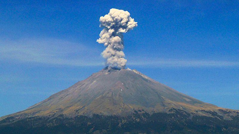 El Popocatépetl emite 156 exhalaciones; sigue la alerta Amarillo Fase 2