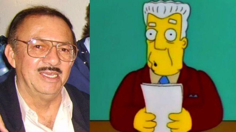 Muere actor de doblaje Gonzalo Curiel, voz de 'Kent Brockman' en'Los Simpson'