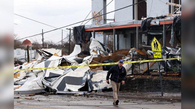Tras el paso de tornados en Nashville, el número de muertos aumentó a 25
