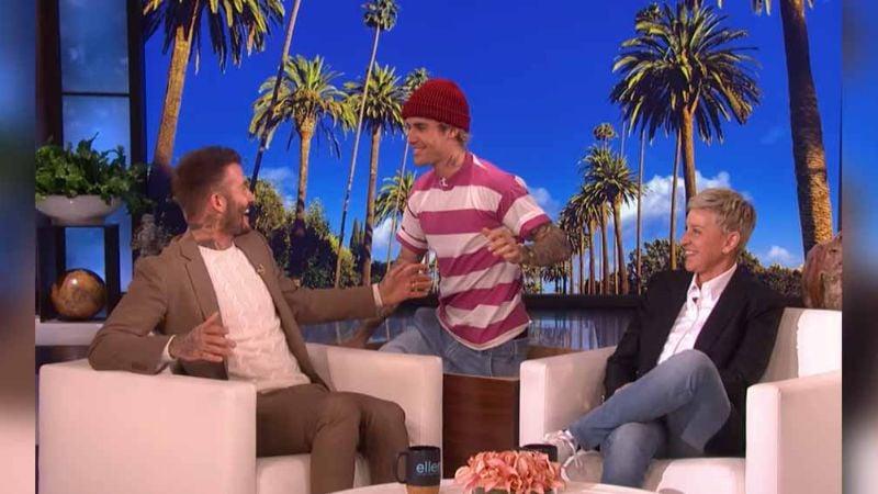 VIDEO: Justin Bieber da tremendo susto a David Beckham ¡en programa en vivo!