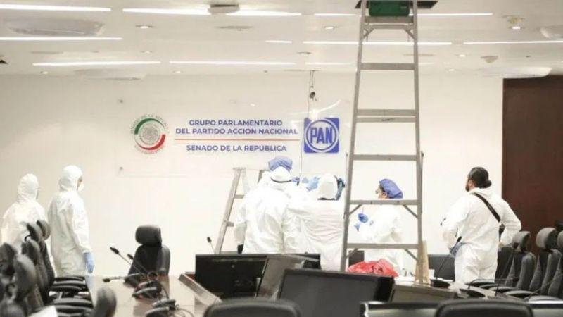 Tras denuncia de espionaje, FGR revisa oficinas del PAN en el Senado