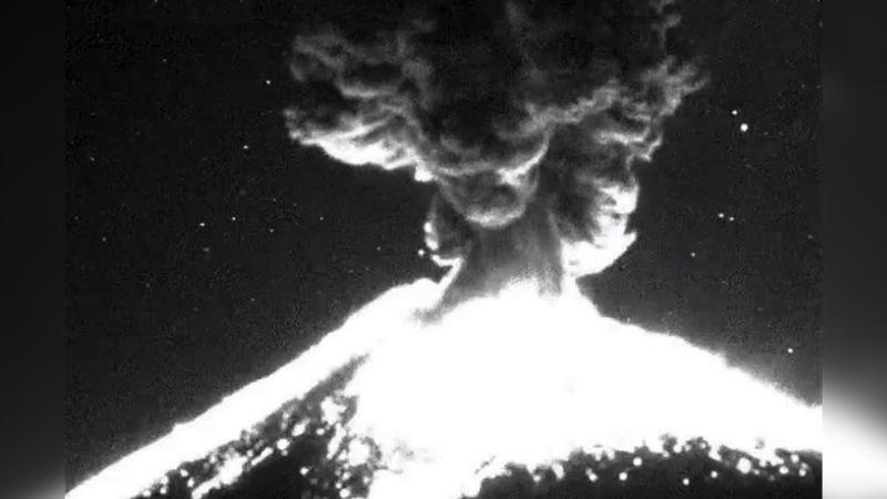 Alerta en el Popocatépetl: El volcán registra 6 explosion en 24 horas