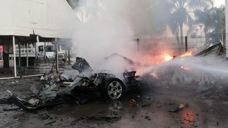 AMLO asegura que explosión de coche bomba en Celaya es propaganda