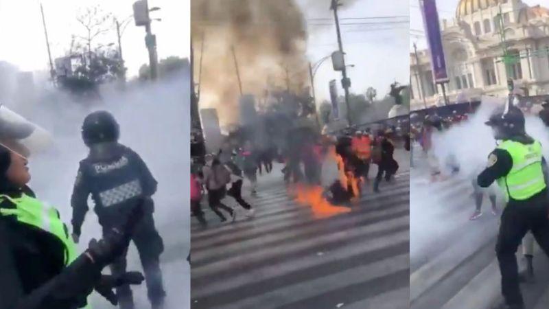Lucero es policía de CDMX; resultó quemada de la cara en la Marcha 8M