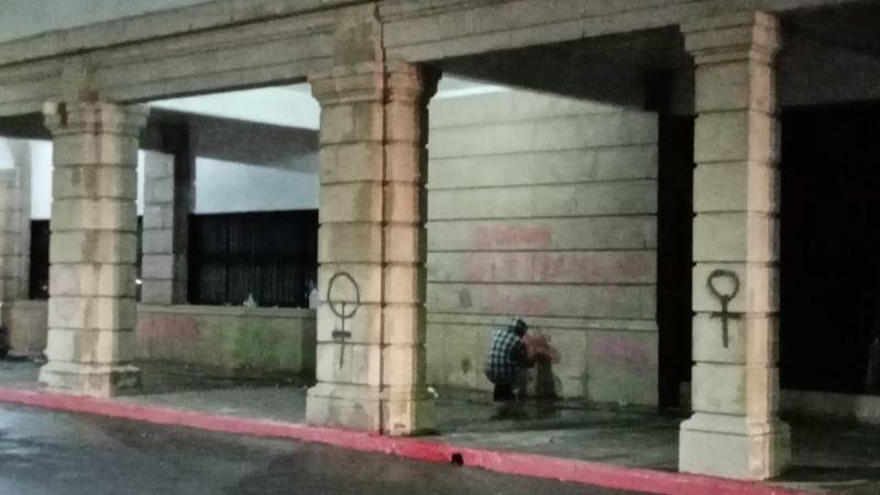 """Ayuntamiento de Hermosillo """"no interpondrá denuncia"""" por pintas en Catedral"""