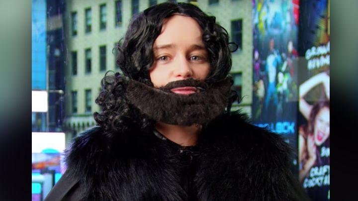 Actriz de 'Game of Thrones' se viste de 'Jon Snow' y realiza broma a fans