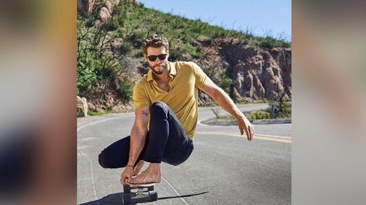 Desde la cama y sin ropa, Liam Hemsworth sube la temperatura en redes