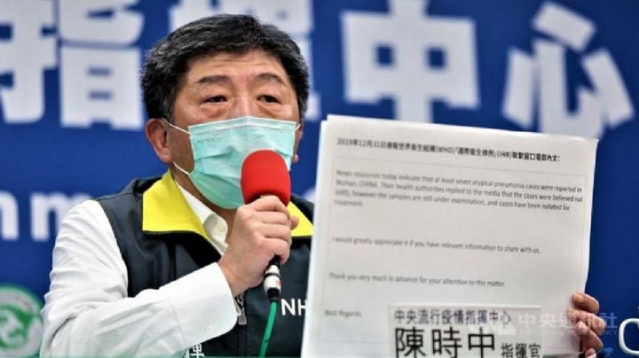 """""""Les advertimos y nos ignoraron"""": Taiwan revela correos sobre advertencia del Covid-19 a la OMS"""