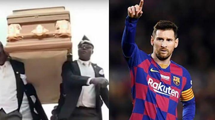El viral cargador de ataúdes revela ser fanático del Barcelona y de Leo Messi