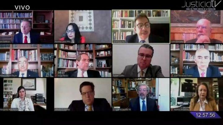 SCJN sesiona por primera vez a través de una videoconferencia por Covid-19