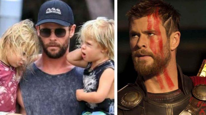De héroe de acción a padre desesperado: Chris Hemsworth sufre con sus hijos en casa