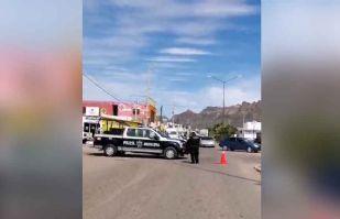 Covid-19: Tránsito Municipal bloquea vialidades en Guaymas para evitar movilización