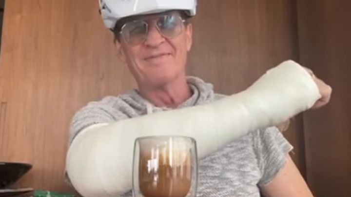 Paseo en bicicleta le sale caro a Emmanuel: Se rompe el brazo en plena cuarentena