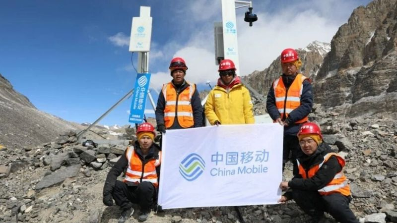 Huawei y China Mobile instalan puntos de acceso a la red de 5G en el Everest
