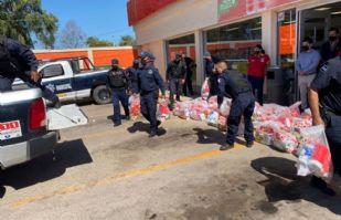 Empresarios de tiendas de conveniencia donan despensas para familias de Etchojoa