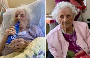 Jennie Stejna, la mujer de 103 años que celebra con cerveza que venció el Covid-19