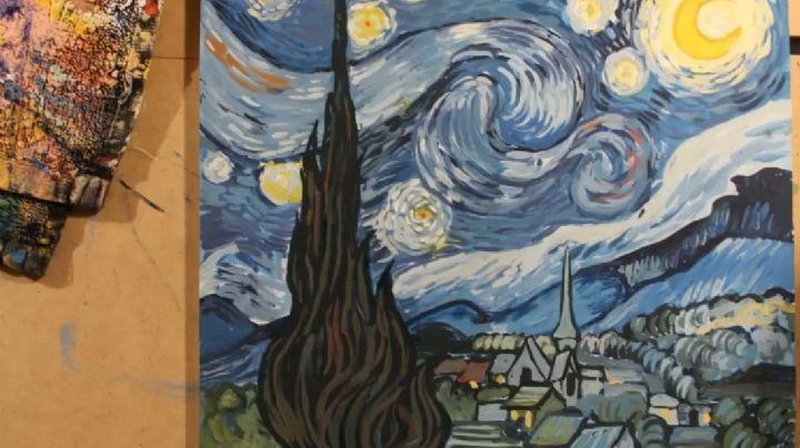 'Cómo pintar como van Gogh' Dámaris Bojórquez te enseña a recrear 'La noche estrellada'