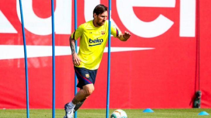 Lionel Messi lidera el regreso de los futbolistas del Barcelona a los entrenamientos