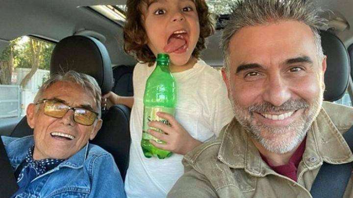 """Conmovedor: Héctor Suárez y cómo se """"aparece"""" para cuidar a sus nietos"""