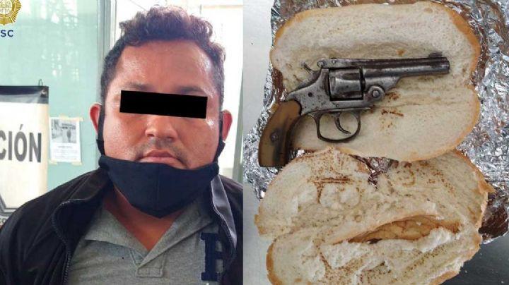 Con una 'torta de pistola', así detienen a un sospechoso hombre en la CDMX
