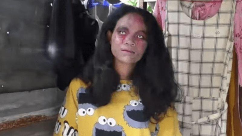 VIRAL: Mujer se viste de zombie para vender ropa de quienes pasaron a mejor vida