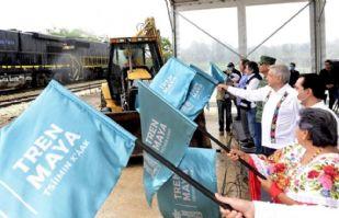 AMLO da banderazo al tercer tramo del Tren Maya en Yucatán