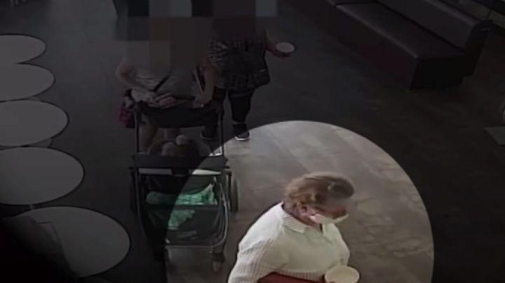 VIDEO: Mujer se quita la mascarilla y tose sobre un bebé hispano en EU