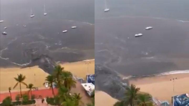 VIDEO: !Indignante! Descargan aguas negras en una playa de Acapulco