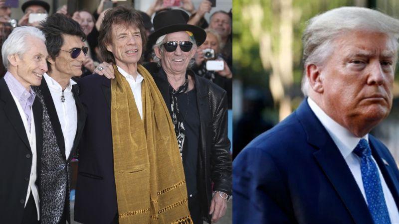 """Rolling Stones lanzan clara advertencia a Donald Trump: """"No uses nuestra música"""""""