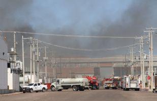 Protección Civil espera resultados de la causa del incendio en maquilas Tetakawi