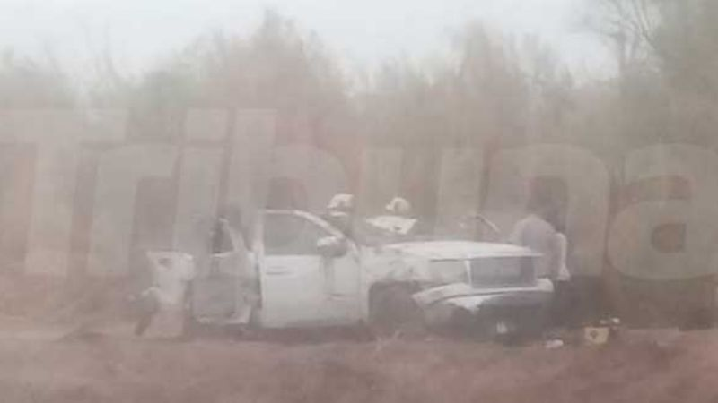 Fatal accidente en Vícam deja saldo de cuatro personas fallecidas