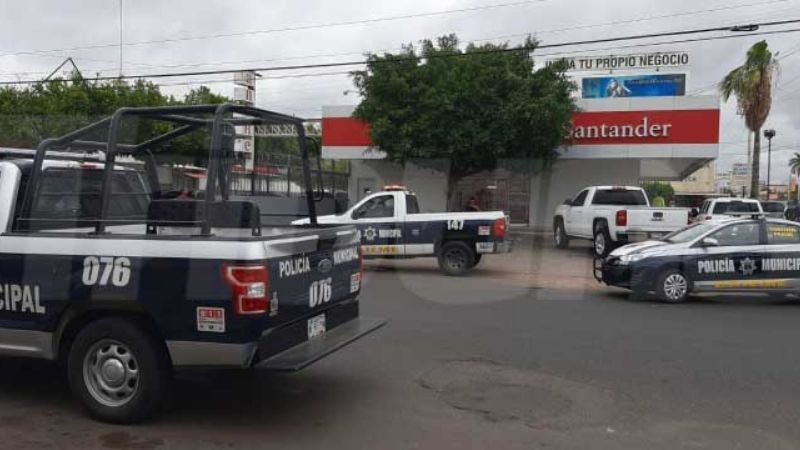 Asaltan a un hombre en banco de Cajeme; lo despojaron de 100 mil pesos