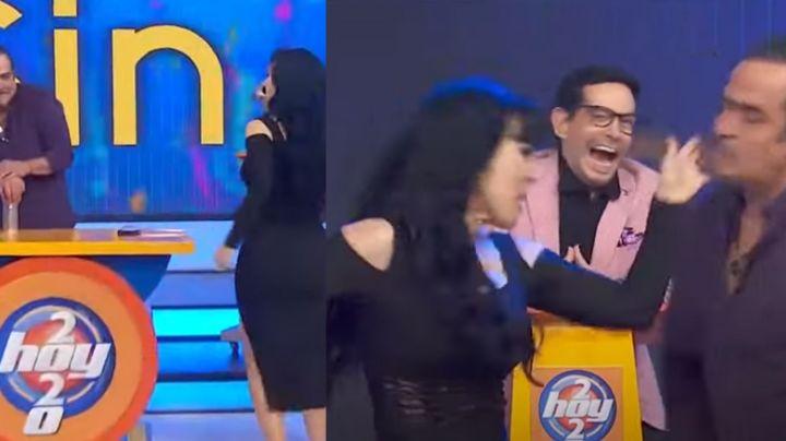 """Maribel Guardia pierde los estribos en 'Hoy' y cachetea en vivo a actor de Televisa: """"Estú... engreído"""""""