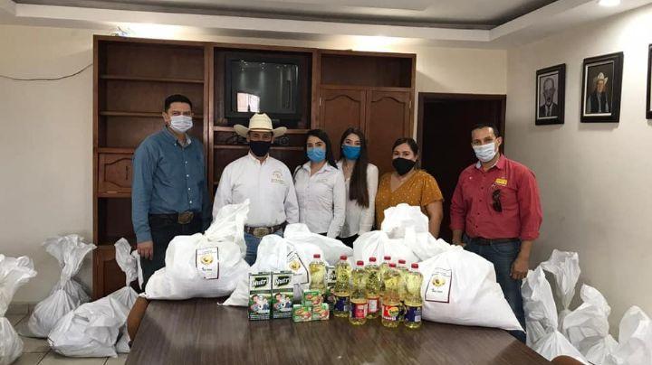 Unión Ganadera brinda despensas a productores del Valle del Yaqui